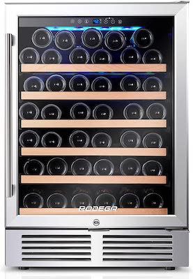 BODEGA 24 Inch Wine Cooler,52 Bottle Wine Refrigerator with Upgrade Compressor Fits Champagne Bottles Keep Consistent Temperature Low noise Built in or Freestanding