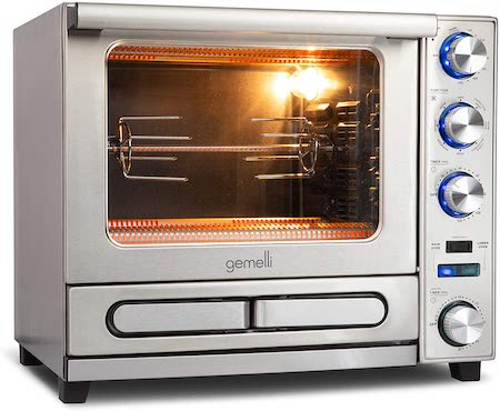 Gemelli Twin Oven, Professional Grade Convection Oven with Built-In Rotisserie and Convenience/Pizza Drawer