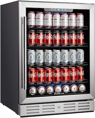 """Kalamera 24 inch 154 Cans Capacity Beverage Cooler- Fit Perfectly into 24"""" Space Built in Counter or Freestanding"""