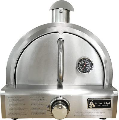 Mont Alpi MAPZ-SS Table Top Gas Pizza Oven, Large, Stainless Steel